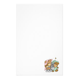 mary joseph baby jesus teddy bear christmas design stationery