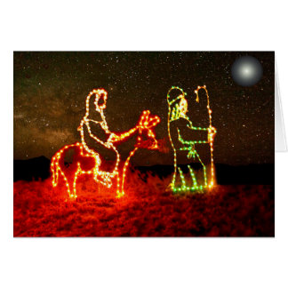 Mary & Joseph Bethlehem Journey Greeting Card Art
