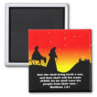 Mary & Joseph, Bible Scripture Verse Magnet