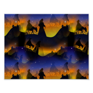 Mary & Joseph Christmas Nativity Poster