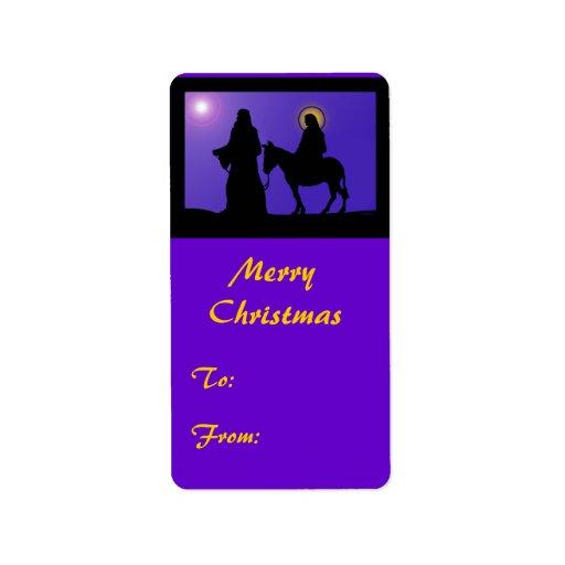 Mary & Joseph Gift Tags Address Label
