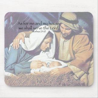 Mary, Joseph & Jesus Mouse Pads