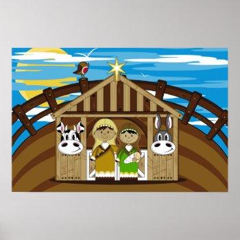 Mary, Joseph & Jesus Poster print