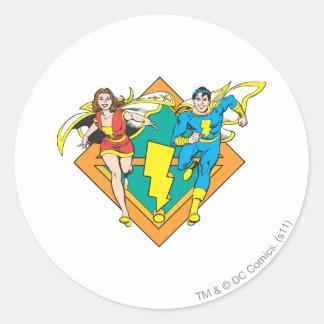Mary & Junior Run Classic Round Sticker