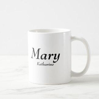 Mary, Katharine Classic White Coffee Mug