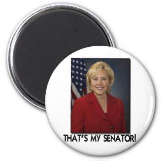 ¡Mary Landrieu, de que es mi senador! Imán Redondo 5 Cm