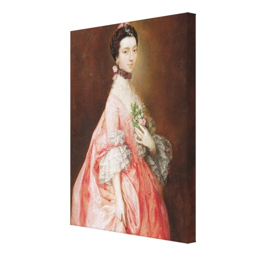 Mary Little, Later Lady Carr (oil on canvas) Canvas Print