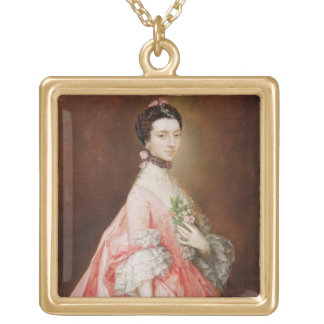 Mary Little, Later Lady Carr (oil on canvas) Gold Plated Necklace