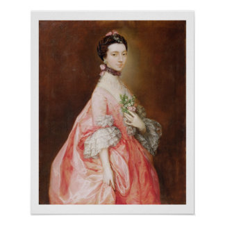 Mary Little, Later Lady Carr (oil on canvas) Poster