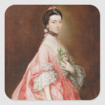 Mary Little, Later Lady Carr (oil on canvas) Square Sticker