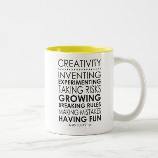 Mary Lou Cook Creativity Quote Mug