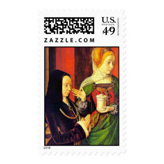 Mary Magdalen And A Donor By Meister Von Moulins ( Stamps
