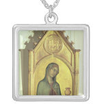Mary Magdalen, c.1320 Square Pendant Necklace