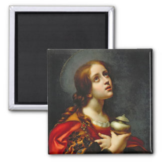 Mary Magdalene, 1660-70 (oil on canvas) 2 Inch Square Magnet