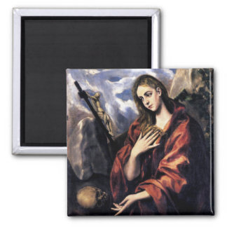 Mary Magdalene 2 Inch Square Magnet