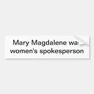 Mary Magdalene Car Bumper Sticker
