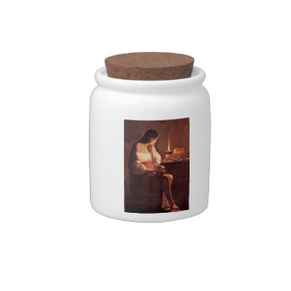 Mary Magdalene by Georges de La Tour Candy Dish