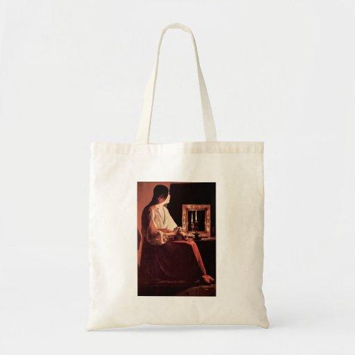 Mary Magdalene by Georges de La Tour Canvas Bag