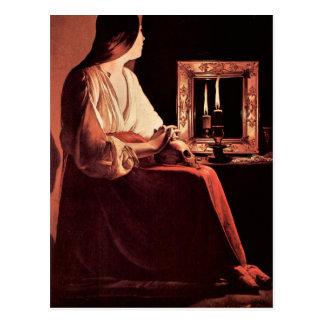 Mary Magdalene by Georges de La Tour Postcard