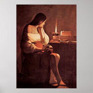 Mary Magdalene by Georges de La Tour Poster