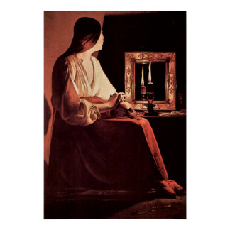 Mary Magdalene by Georges de La Tour Poster