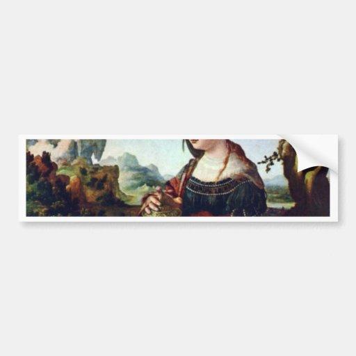 Mary Magdalene. By Jan Van Scorel  (Best Quality) Car Bumper Sticker