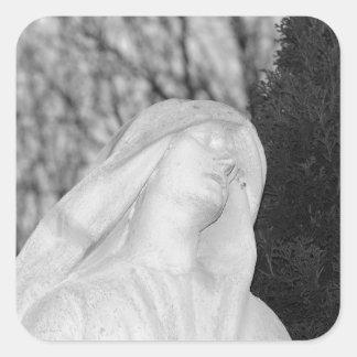 Mary Magdalene Cemetery Art Square Sticker