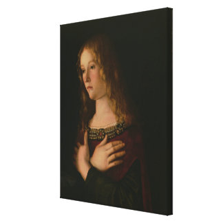 Mary Magdalene, detail from the Virgin and Child w Canvas Print