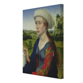 Mary Magdalene, from the right hand panel Canvas Print