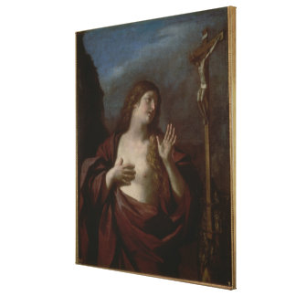 Mary Magdalene in Penitence (oil on canvas) 2 Canvas Print