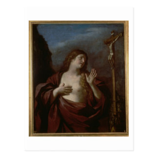 Mary Magdalene in Penitence (oil on canvas) 2 Postcard