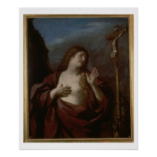 Mary Magdalene in Penitence (oil on canvas) 2 Poster