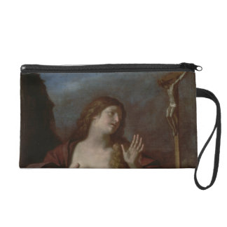 Mary Magdalene in Penitence (oil on canvas) 2 Wristlet Purse