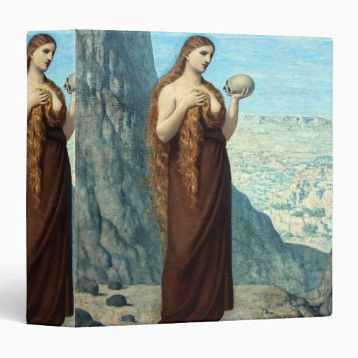 Mary Magdalene in the Desert by Puvis de Chavannes 3 Ring Binders