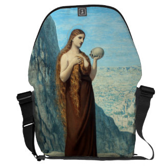 Mary Magdalene in the Desert by Puvis de Chavannes Courier Bag