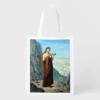 Mary Magdalene in the Desert by Puvis de Chavannes Grocery Bag
