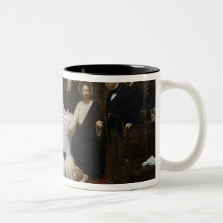 Mary Magdalene in the house of the Pharisee Two-Tone Coffee Mug
