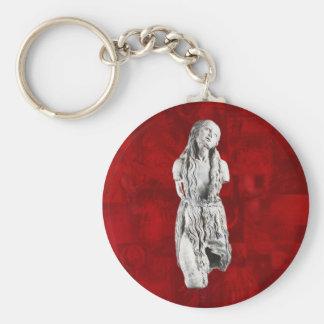 Mary Magdalene Keychain Basic Round Button Keychain
