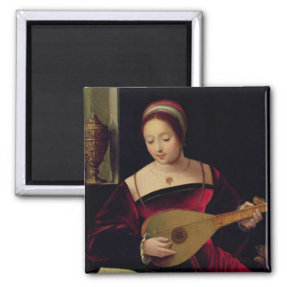 Mary Magdalene Playing the Lute Magnet