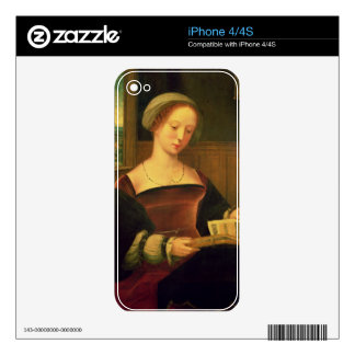 Mary Magdalene Reading (oil on panel) Decal For iPhone 4