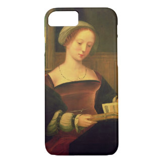 Mary Magdalene Reading (oil on panel) iPhone 7 Case