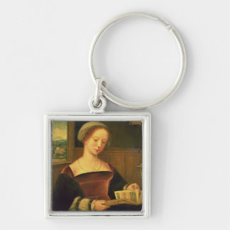 Mary Magdalene Reading (oil on panel) Keychain