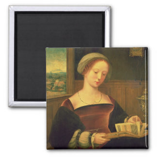 Mary Magdalene Reading (oil on panel) Magnet