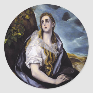 Mary Magdalene Classic Round Sticker