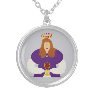 Mary Magdalene-Top Round Pendant Necklace