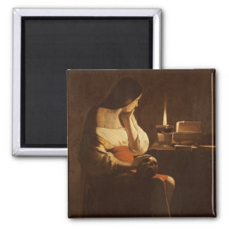 Mary Magdalene with a night light, 1630-35 2 Inch Square Magnet