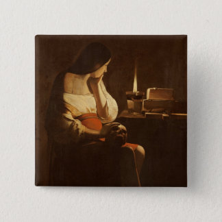 Mary Magdalene with a night light, 1630-35 Button