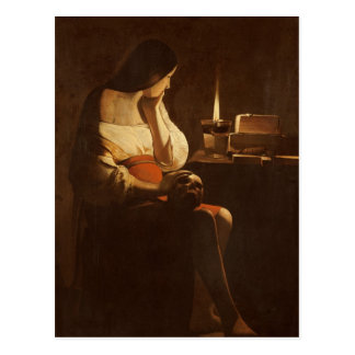 Mary Magdalene with a night light, 1630-35 Postcard