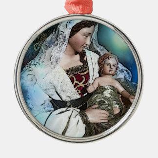 Mary, Mary & Jesus Premium Round Ornament