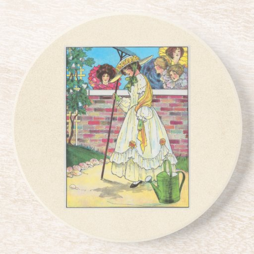 Mary, Mary, quite contrary Beverage Coaster